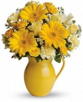Sunny Days Pitcher Fresh Flowers