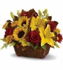 Sunny Day's Basket Arrangement