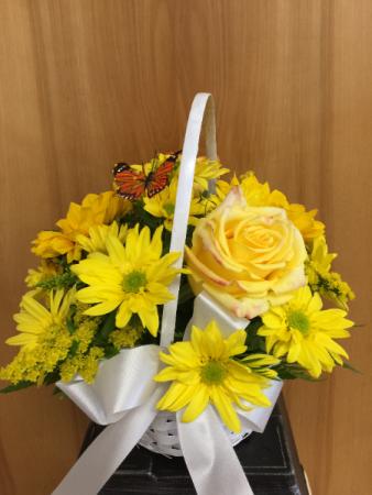 Sunny Days Basket  full of yellows