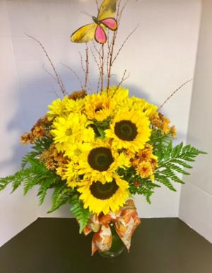 Sunny Smile Elegant Sunflowers Design in Reno, NV | Flower Bell