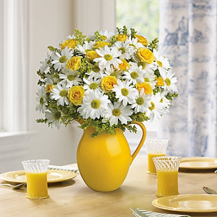 Sunny Days Pitcher Bouquet Get Well