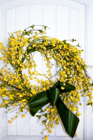 Sunny Days Silk Wreath in Corner Brook, NL | The Orchid