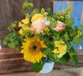 Sunny Daze vase arrangement