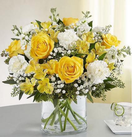 Sunny Delight Mixed Floral Arrangement