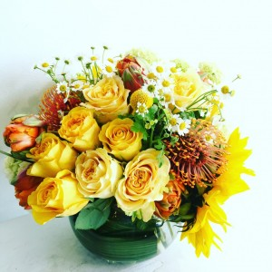 Sunny disposition Vase arrangement
