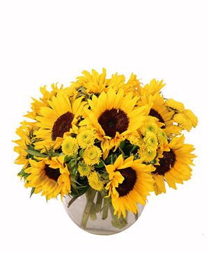 Sunny Escape Flower Arrangement in Alexandria, IN | OUSLEY'S HARVEST GARDENS