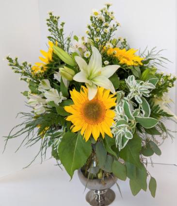 Sunny Escape Fresh Vase Arrangement
