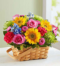 Sunny Garden  Basket Arrangement
