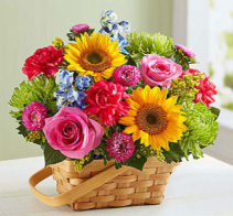 Sunny Garden Basket™ Arrangement
