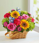 Sunny Garden Basket Summer Flower Basket
