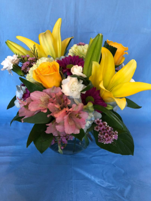 Sunny Garden Bubble bowl in Powell, OH | MILANO FLORIST