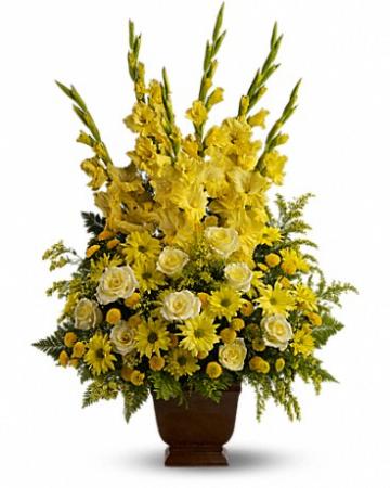 Sunny Memories Funeral Flower
