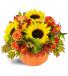 Sunny Pumpkin Floral Bouquet