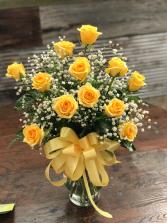 Sunny Rays Dozen Yellow Roses