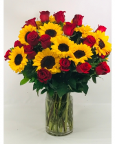 Sunny Rose Vase Arrangement