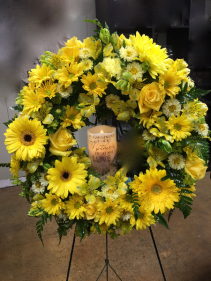 Sunny Sentiment Floral Wreath