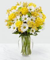 Sunny Sentiments Bouquet Vase