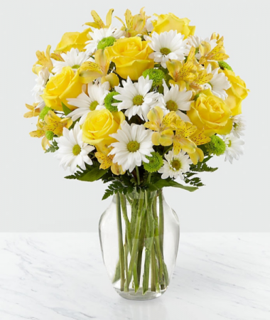 Sunny Sentiments Bouquet Vase