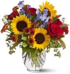 Sunny Skies Floral Vase