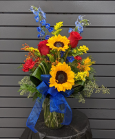 Sunny Skies Fresh Vase Arrangement