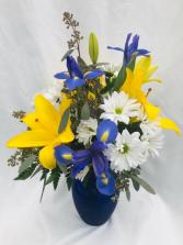 Sunny Skies Vase Fresh Vase Arrangement
