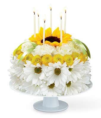 Sunny Smiles Birthday Flower Cake