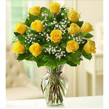 Sunny Smiles Yellow Rose Bouquet