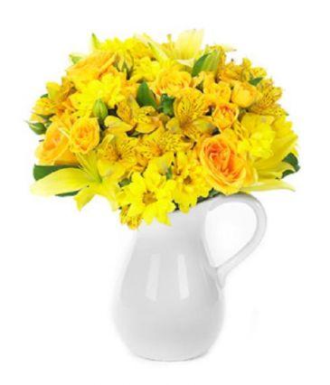 Sunny & Smiling Bouquet Vased Arrangement