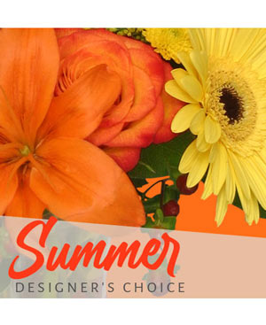 Sunny Summer Florals Designer's Choice in Wilson, NC | Triple C Flowers & Gifts