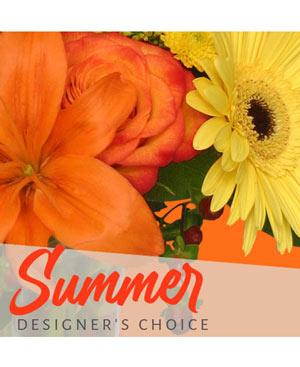 Sunny Summer Florals Designer's Choice in Gig Harbor, WA | GIG HARBOR FLORIST TM- FLOWERS BY THE BAY LLC