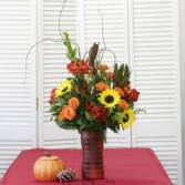 Sunny Sunflower Autumn Vase Vase Arrangement