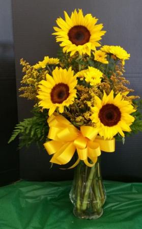 Sunny Sunflower  mixed arrangement