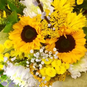 Sunny Sunflowers Bouquet Cut Flower Bouquet in Troy, MI | DELLA'S MAPLE LANE FLORIST