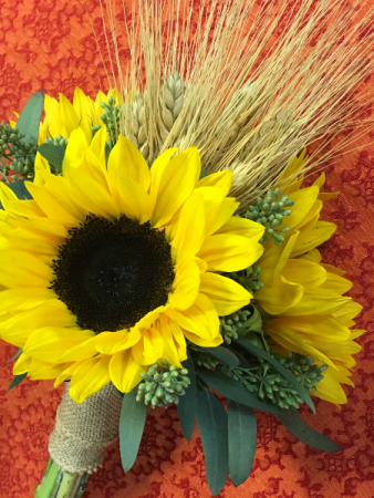 Sunny Sunflowers Handtied Style Bridal Bouquet