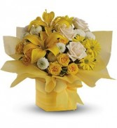 Sunny Surprise Present Floral Bouquet