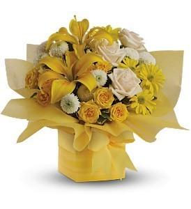 Sunny Surprise Present Floral Bouquet