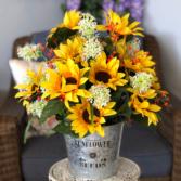 Sunny Surprise Silk Floral Arrangement