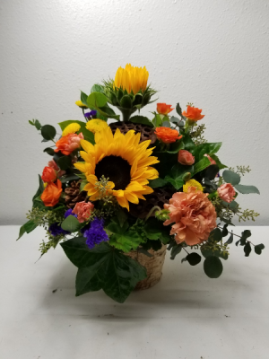 Sunny Thoughts Flower Arrangement in North Bend, OR | PETAL TO THE METAL FLOWERS