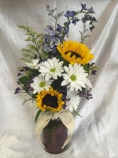 Sunny Wildflowers Fresh Arrangement
