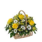 sunny yellow basket