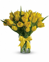 Sunny Yellow Tulip-20 Stems Bouquet