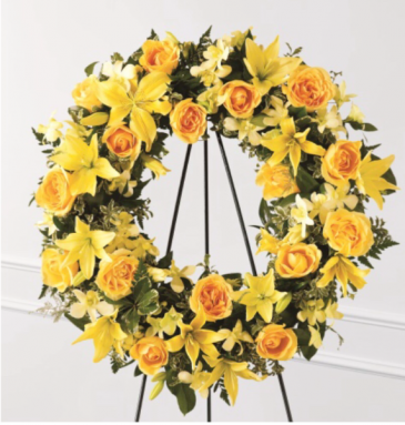 Sunny yellow wreath Wreath