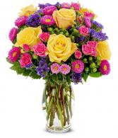 Sunrise Bouquet Vase Arrangement