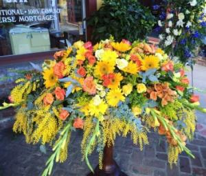 Sunrise Serenity  Full Casket Piece in Lompoc, CA | BELLA FLORIST AND GIFTS