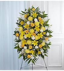 "SUNRISE SPRAY STANDING FUNERAL PC ON A 5'-6"" STAND"