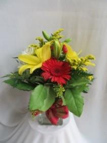 Sunsational Fresh Vased Arrangement