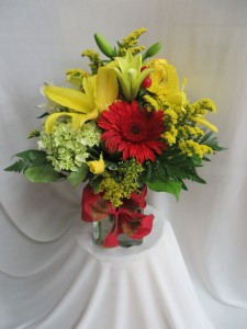 Sunsational  Fresh Vased Arrangement in Farmville, VA | CARTERS FLOWER SHOP