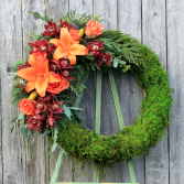Sunset Crescent Funeral Wreath