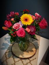 Sunset Kiss Vased arrangement