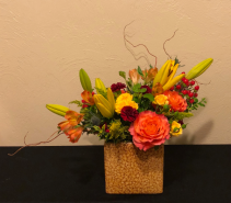 Sunset Passion Keepsake Arrangement